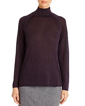 NIC and ZOE - Metallic Turtleneck Sweater