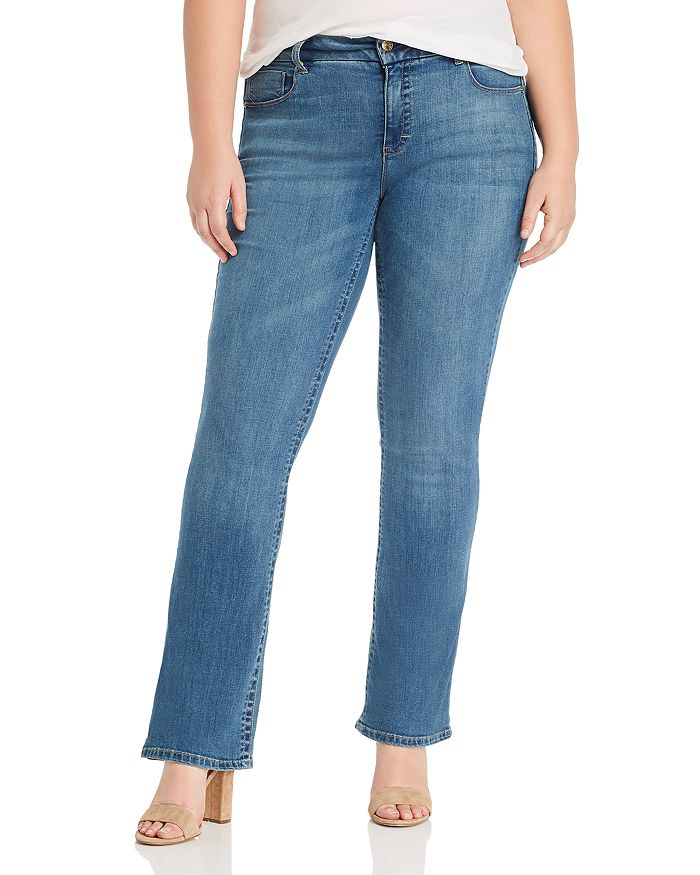 Seven7 Jeans Plus - Lia Tummyless Micro-Bootcut Jeans in Lone Star