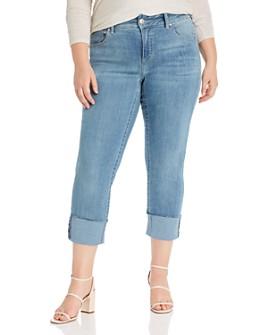 Seven7 Jeans Plus - Lia Tummyless Slim-Straight Jeans in Gypsy