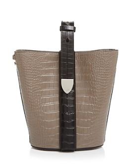 324 New York - Anni Croc-Embossed Convertible Bucket Bag