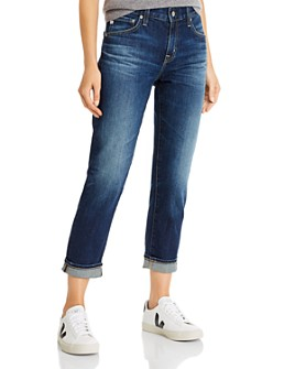 AG - Ex-Boyfriend Crop Slouchy-Slim Jeans in 7 Years Earnest