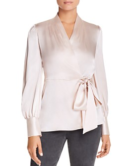 Elie Tahari - Shay Silk Wrap Blouse - 100% Exclusive