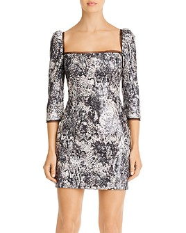 Rachel Zoe - Chiara Snakeskin Sequin Mini Dress
