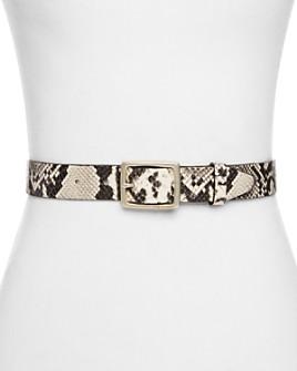 rag & bone - Snake-Embossed Leather Boyfriend Belt