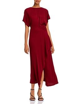 Yigal Azrouel - Shirred Asymmetric Jersey Maxi Dress
