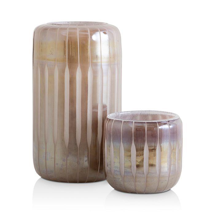 Mitchell Gold Bob Williams - Mauve Glass Hurricane Holder Collection