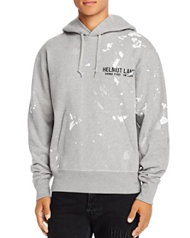 Helmut Lang - Paint-Splattered Logo Hooded Sweatshirt