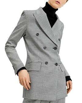Barbara Bui - Checked Double-Breasted Peak-Lapel Blazer