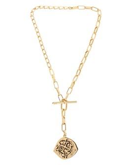 """ALLSAINTS - Coin Pendant Y Necklace, 18"""""""