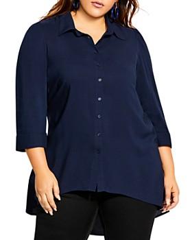 City Chic Plus - High/Low Tunic Shirt