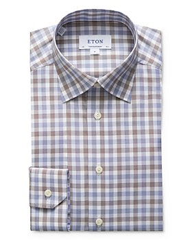 Eton - Contemporary Fit Gingham Check Dress Shirt