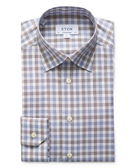 Eton - Plaid Regular Fit Dress Shirt