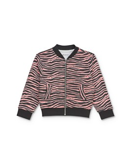 Mini Series - Girls' Kayla Zebra Print Bomber Jacket, Little Kid - 100% Exclusive