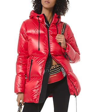 Michael Michael Kors Hooded Cire Down Coat