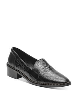 The Kooples - Women's Croc-Embossed Loafers
