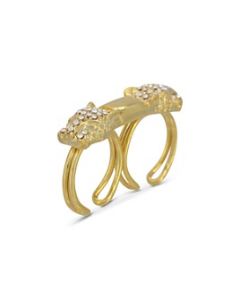 The Kooples - Panther Head Double Open-Band Ring