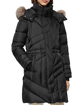 Andrew Marc - Fur-Trim Cresskill Quilted Coat