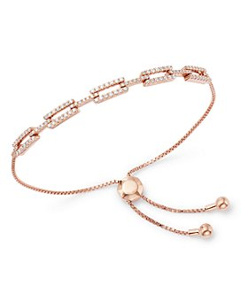 Bloomingdale's - Pavé Diamond Link Bolo Bracelet in 14K Rose Gold, 0.50 ct. t.w. - 100% Exclusive