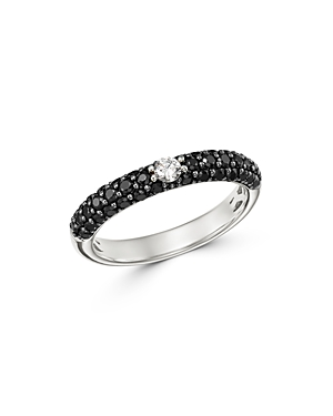 Bloomingdale's Black & White Diamond Band in 14K White Gold - 100% Exclusive
