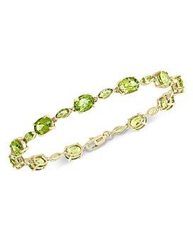 Bloomingdale's -  Peridot Bracelet in 14K Yellow Gold - 100% Exclusive