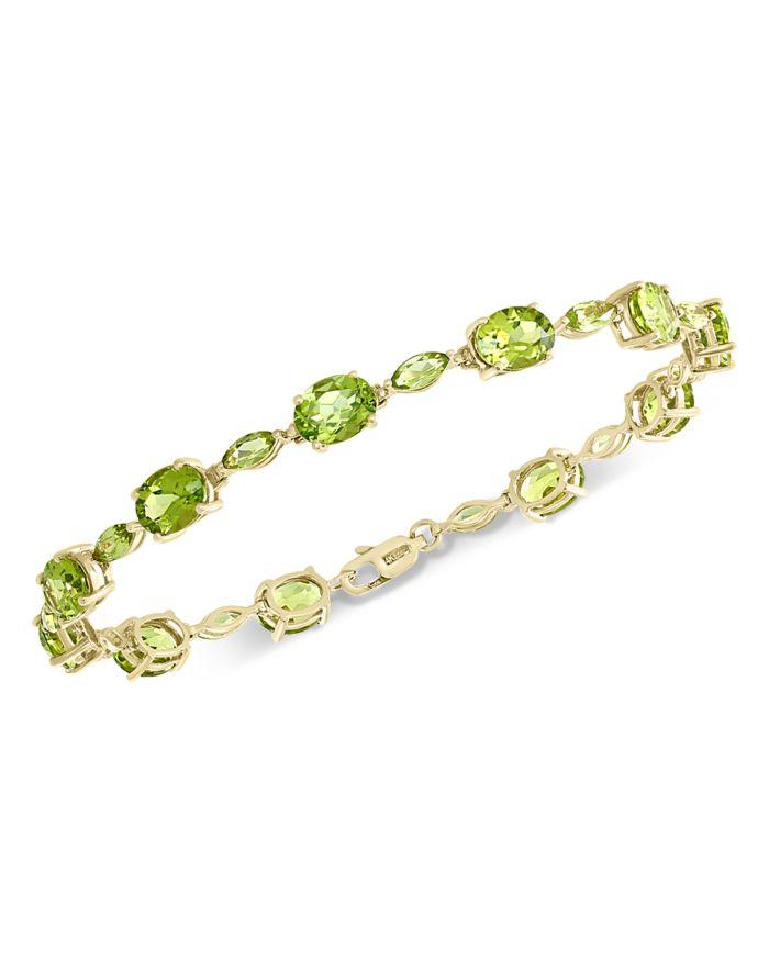 Bloomingdale's Peridot Bracelet in 14K Yellow Gold - 100% Exclusive  | Bloomingdale's