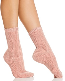 HUE - Wide-Ribbed Chenille Boot Socks