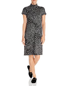 Leota - Blaire Mock-Neck Animal-Print Dress