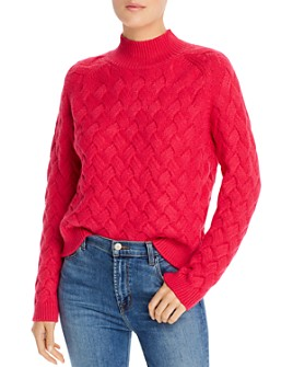 The East Order - Adele Crosshatched-Knit Cotton Sweater