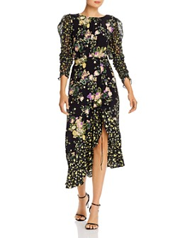 For Love & Lemons - Floral Back-Cutout Dress