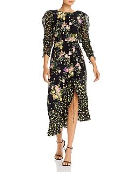 For Love & Lemons - Floral Back-Cutout Dress