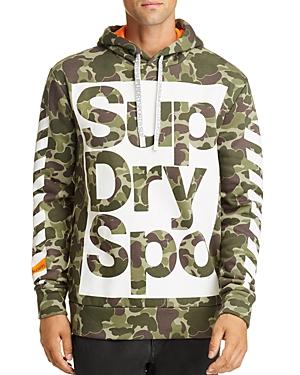 Superdry Combat Boxer Graphic Logo Hooded Sweatshirt