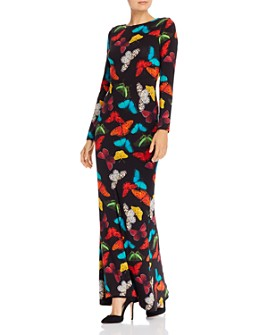 Alice and Olivia - Rosaria Butterfly Print Maxi Dress