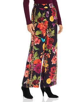 Alice and Olivia - Benny Botanical Wide-Leg Pants