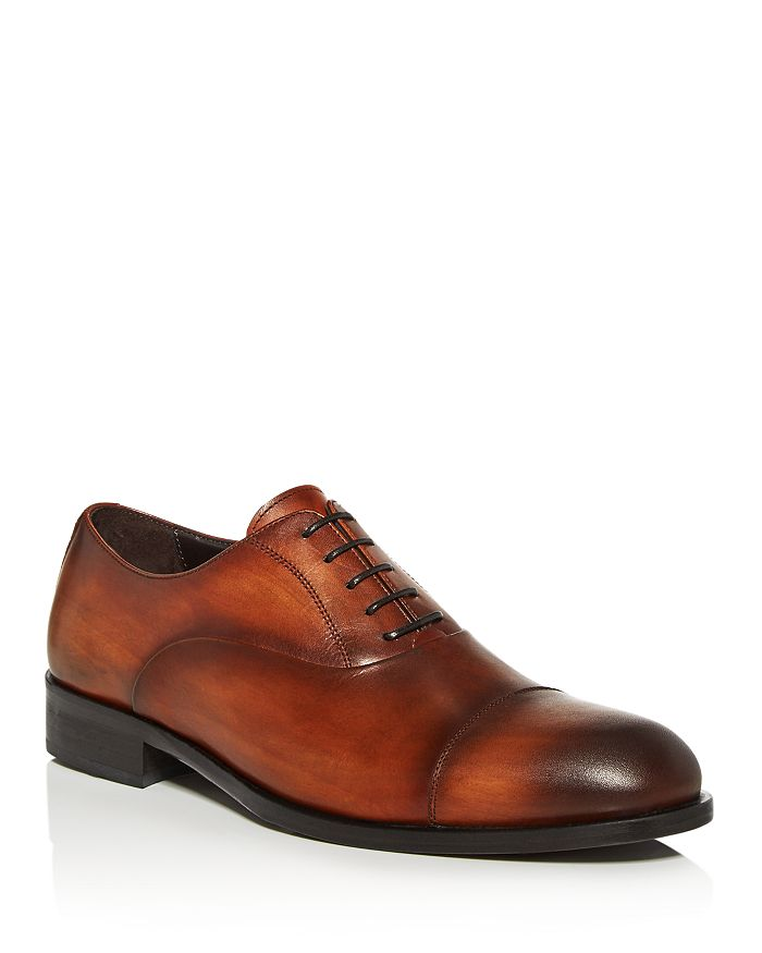 Dylan Gray Men's Fortuno Cap-toe Lace-up Oxfords - 100% Exclusive In Cognac