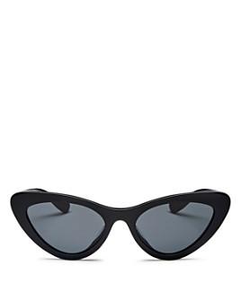 Miu Miu - Women's Slim Cat Eye Sunglasses, 55mm