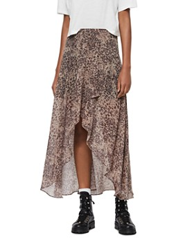 ALLSAINTS - Slvina Patch High/Low Skirt