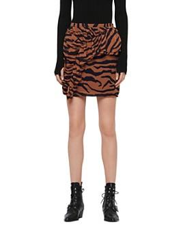 ALLSAINTS - Pia Zephyr Ruffled Skirt