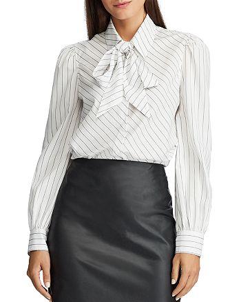 Ralph Lauren - Striped Tie-Neck Shirt