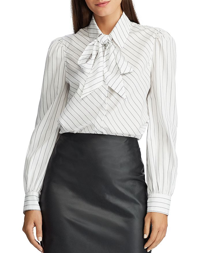 Ralph Lauren - Striped Tie-Neck Shirt