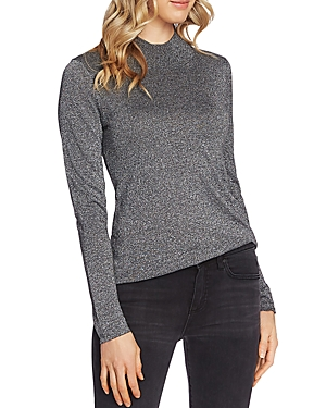 Vince Camuto Sweaters METALLIC MOCK-NECK SWEATER