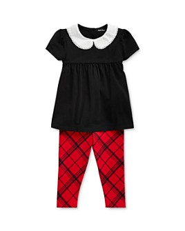 Ralph Lauren - Girls' Empire-Waist Top & Tartan Leggings Set - Baby