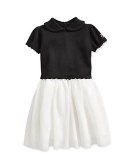 Ralph Lauren - Girls' Mixed-Media Sweater Dress - Baby