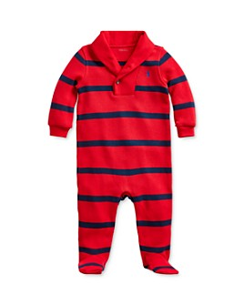 Ralph Lauren - Boys' Striped Shawl-Collar Footie - Baby