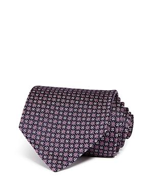 Ermenegildo Zegna Neat Floral Grid Silk Classic Tie-Men