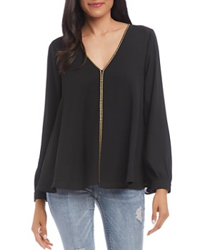 Karen Kane - Long-Sleeve Studded Top