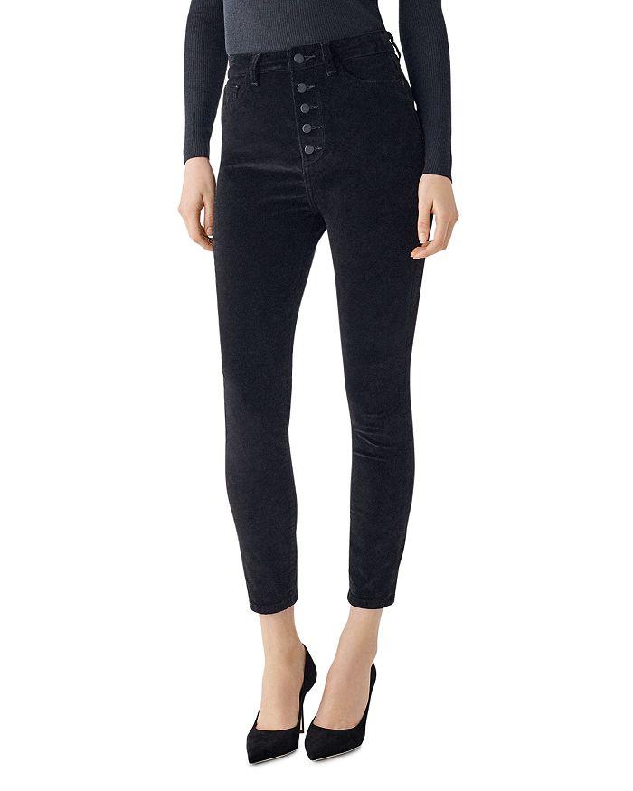 DL1961 - Chrissy Ultra High Rise Velvet Skinny Ankle Jeans in Lost
