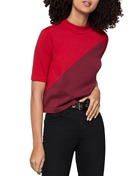 BCBGENERATION - Color-Block Mock-Neck Top