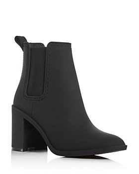 Jeffrey Campbell - Women's Hurricane Square-Toe Block-Heel Chelsea Boots