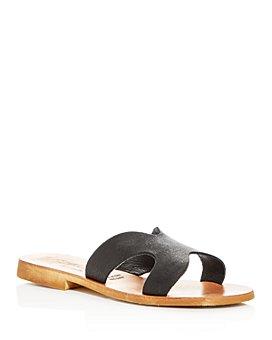 Cocobelle - x L*Space Women's Cutout Slide Sandals