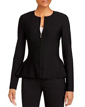St. John - Milano Knit Flared-Hem Jacket